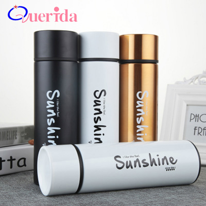 High Quality Cute Thermal Bottle Thermos Stainless Steel Vacuum Thermal Mug Leak Proof Outdoor Travel Mug Gift Straight Cup