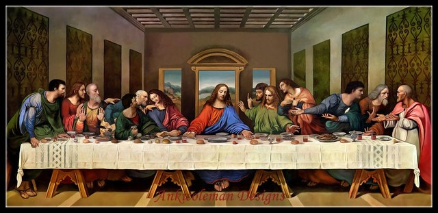 Needlework for embroidery DIY DMC High Quality Counted ... Da Vinci Last Supper High Resolution