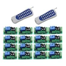 Interrupteur déclairage sans fil contrôlé à distance, 315Mhz, 433Mhz, interrupteur pour luminaire, sortie relais 10a, Module émetteur récepteur, 9V/24V, 1 canal