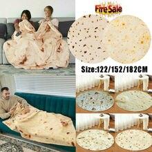 2019 Newest Burrito Blanket Throw Tortilla Texture Soft Fleece Super Bed Sofa Bedding Velvet