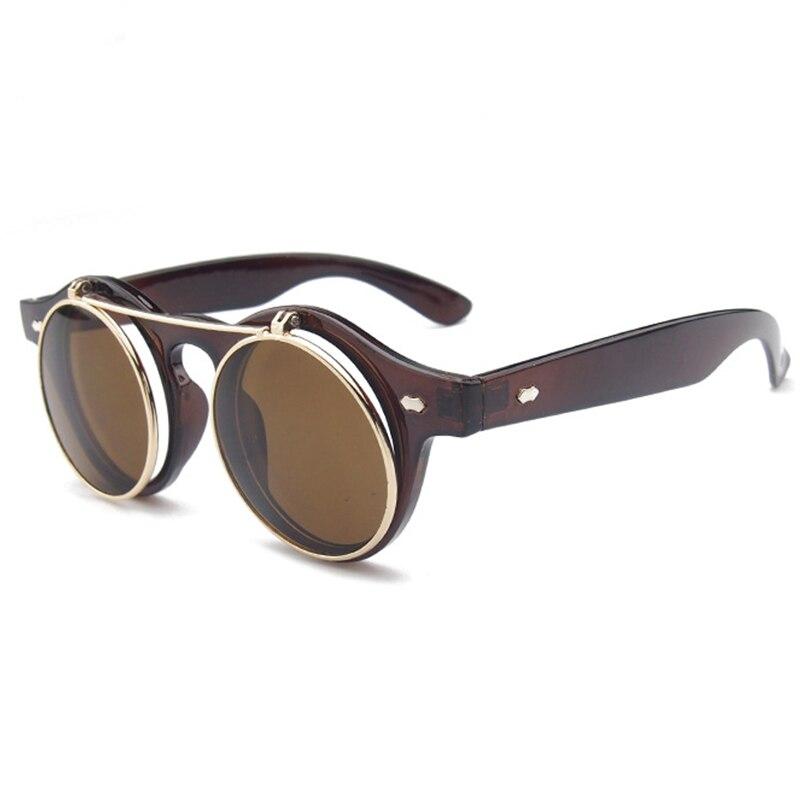 LATASHA New Arrival Steampunk Sunglasses Women Men Square Double Flip Lens Cover Punk Sun Glasses Clear HD Gradient Shades 01 in Women 39 s Sunglasses from Apparel Accessories