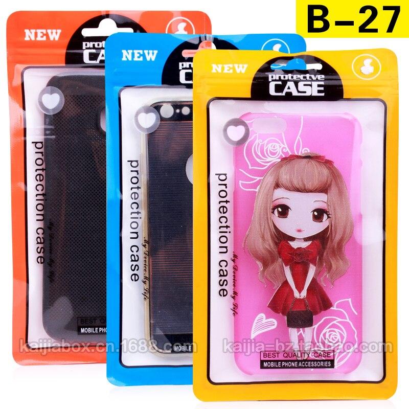 400 pçs lote 2016 novos sacos zip lock pvc pp cpp opp saco de embalagem  sacos de plástico transparentes para samsung iphone acessórios b-27 60f619f26f3ed