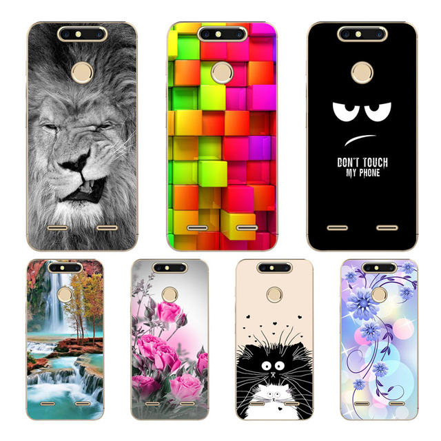finest selection c77c0 33246 US $1.99 |IGWGRY Cartoon Colored Case For ZTE Blade V8 Mini Silicone TPU  Soft Cover For ZTE V8Mini Case Mobile Phone Back Cover-in Fitted Cases from  ...