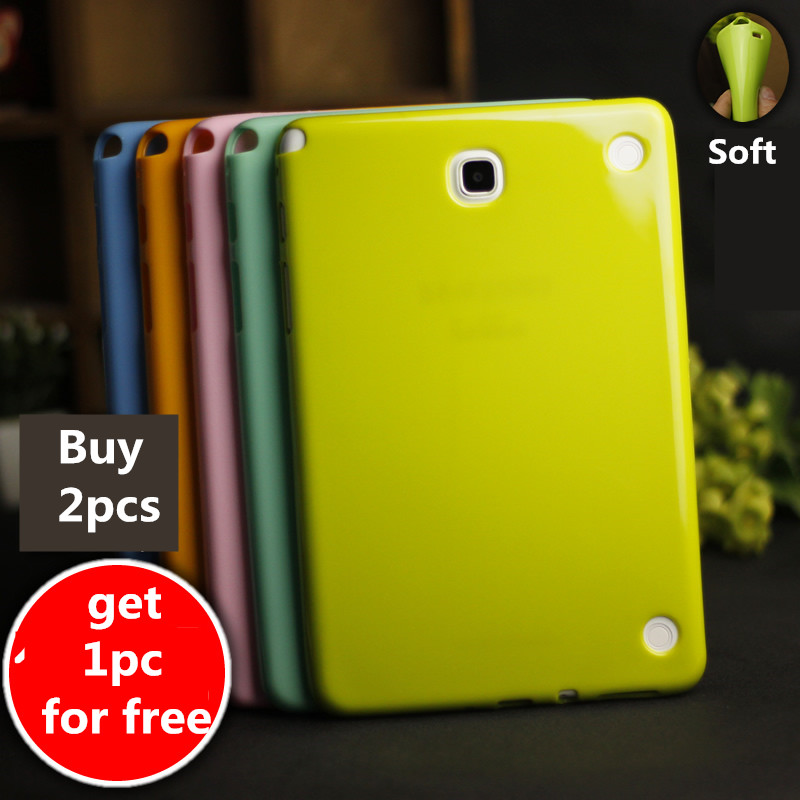 цена на Colorful Case For Samsung Galaxy Tab A 8.0 inch T350 T355 P355 Tablet case Soft Silicone TPU Back Cover Case Protective shell