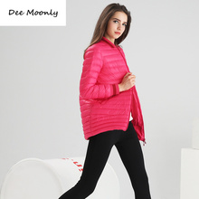 DEE MOONLY Fashion Women Casual Ultralight 90% White Duck Down Coat Women Winter Jacket Women's Down Jackets Long Thin Down Coat