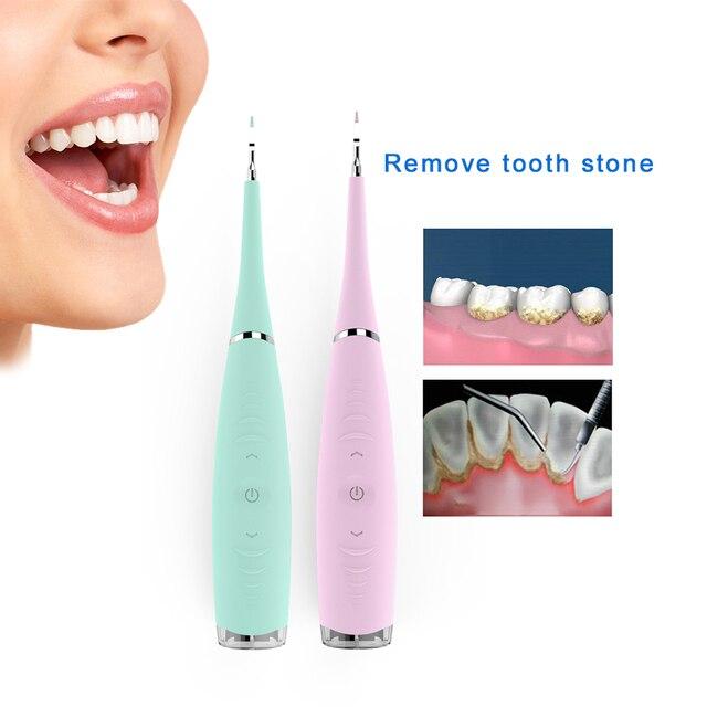 Escalador Dental eléctrico profesional, 5 modos, limpiador Dental sónico de silicona, recargable por USB, eliminador de manchas de sarro