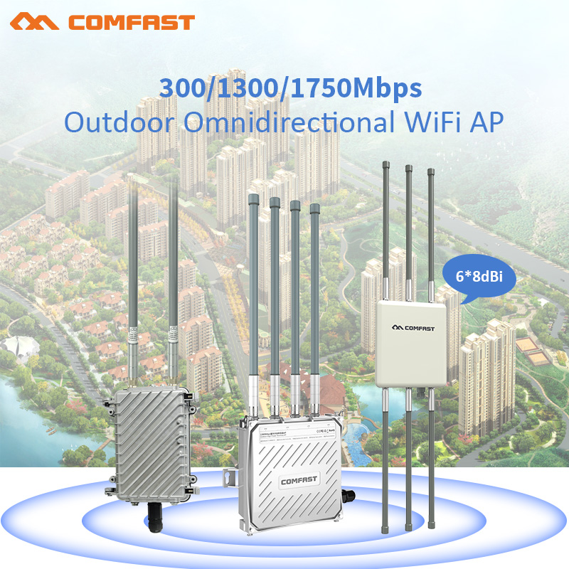 Outdoor WiFi Repeater 300Mbps - 1750Mbps Router Amplifier Wi Fi Booster Outdoor AP Wi-Fi Extender 2.4G+5GHz  Wi-fi Base Station