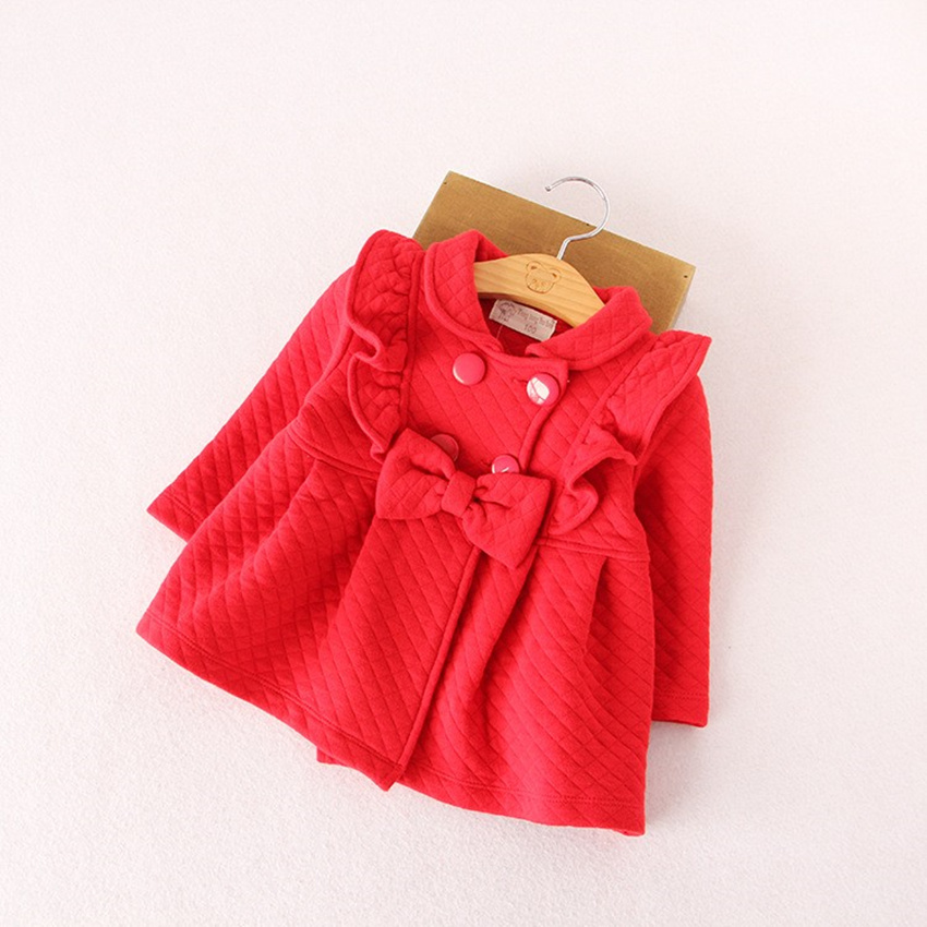 Kids Girls Outerwear & Coats Red blue Cotton tops Girl christmas - Children's Clothing - Photo 2