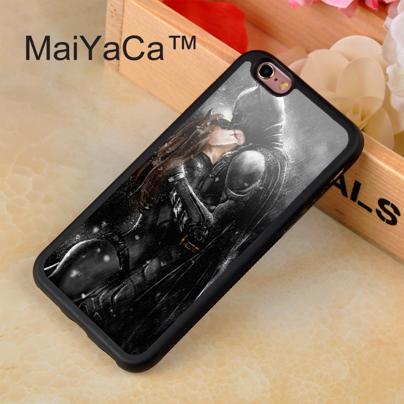 324_B1240_P001_1PC Batman Kiss Catwoman In The Rain Style The Deeply Love Hard Skin Transparent Cover Back Case for Iphone 4 4s 5 5s 6 6plus
