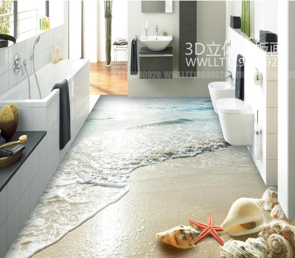 Beach floor murals in wall stickers beach 3d floor tiles beach floor murals in wall stickers beach 3d floor tiles waterproof floor mural painting pvc waterproof floor in wallpapers from home improvement on dailygadgetfo Image collections