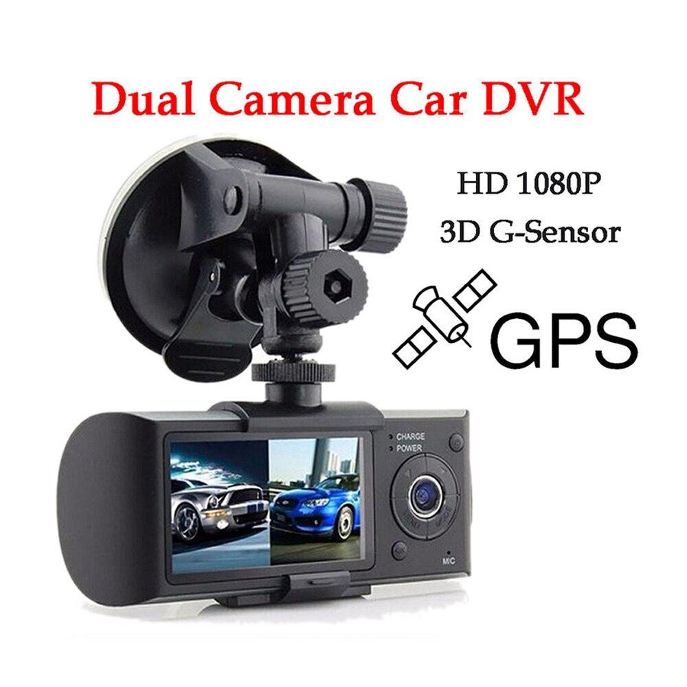 2.7 inch Dual Lens GPS Car DVR Mini Dash Cam Portable Car Camera G-sensor Vehicle Blackbox Night Vision Car Drive Recorders