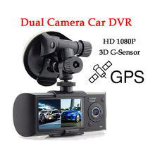 2.7 inch Dual Lens GPS Car DVR Mini Dash Cam Portable Car Camera G-sensor Vehicle Blackbox Night Vision Car Drive Recorders
