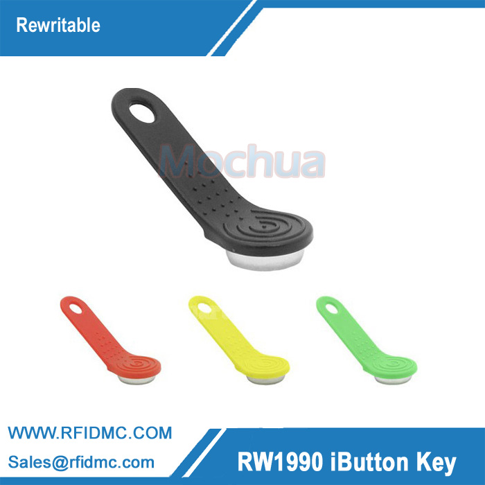 1990A-F5 Ibutton Rewritable Touch Memory key with holder for guard tour system--100pcs/lot fura key holder with 2 leds