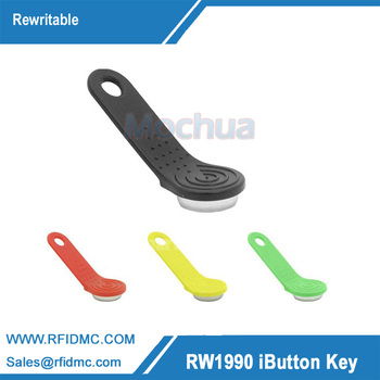 1990A-F5 Ibutton Rewritable Touch Memory key with holder for guard tour system--100pcs/lot