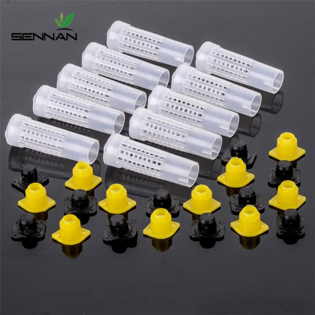 30 Pcs 78 Mm Bee Queen Cage Protection Breeding Queen's Abutment Bee Cage Bee Equipment Beekeeping Tools Insectary Box