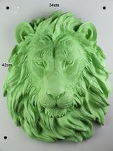 Creative resin Bar club animal head wall decoration crafts room home decor lion bedside vintage statue