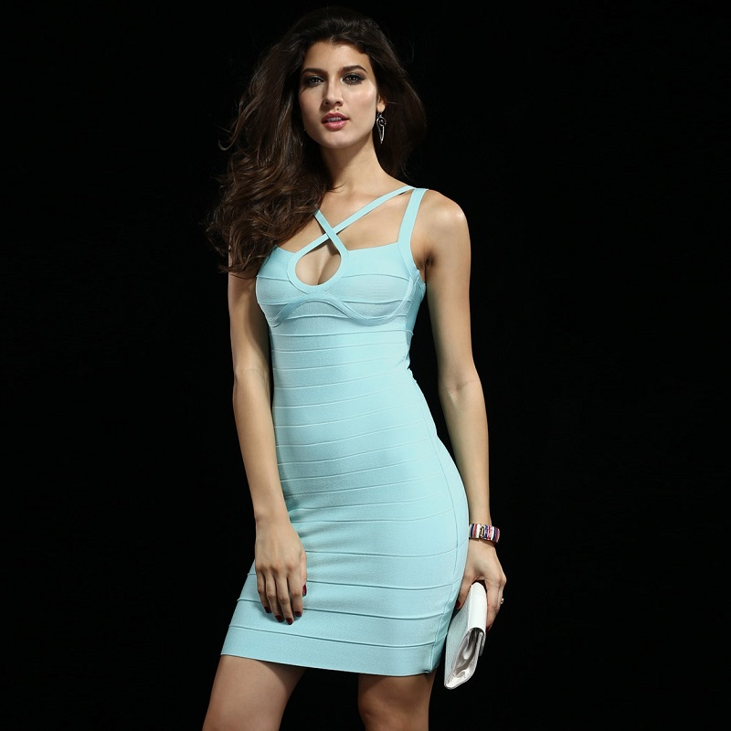 4d99b220b153a US $28.0 |2018 women dress black friday sexy girl short party dresses night  club blue bandage dress backless off shoulder babatique gown-in Dresses ...