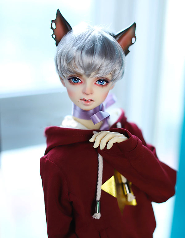 D01-P426 children handmade toy 1/6 1/4 1/3 Doll Accessories BJD/SD doll wig boy Soft silver gray short hair 1pcs