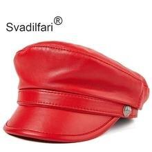 Женская кепка из натуральной кожи svadilfari осенняя Кепка воловьей
