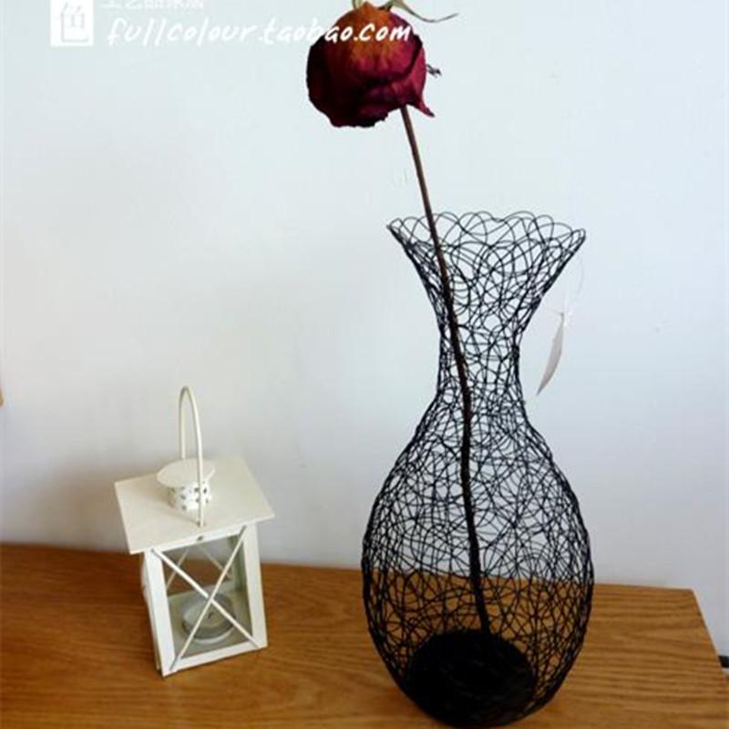 accesorios de decoracin del hogar moderno florero de escritorio de alambre de hierro bandeja de