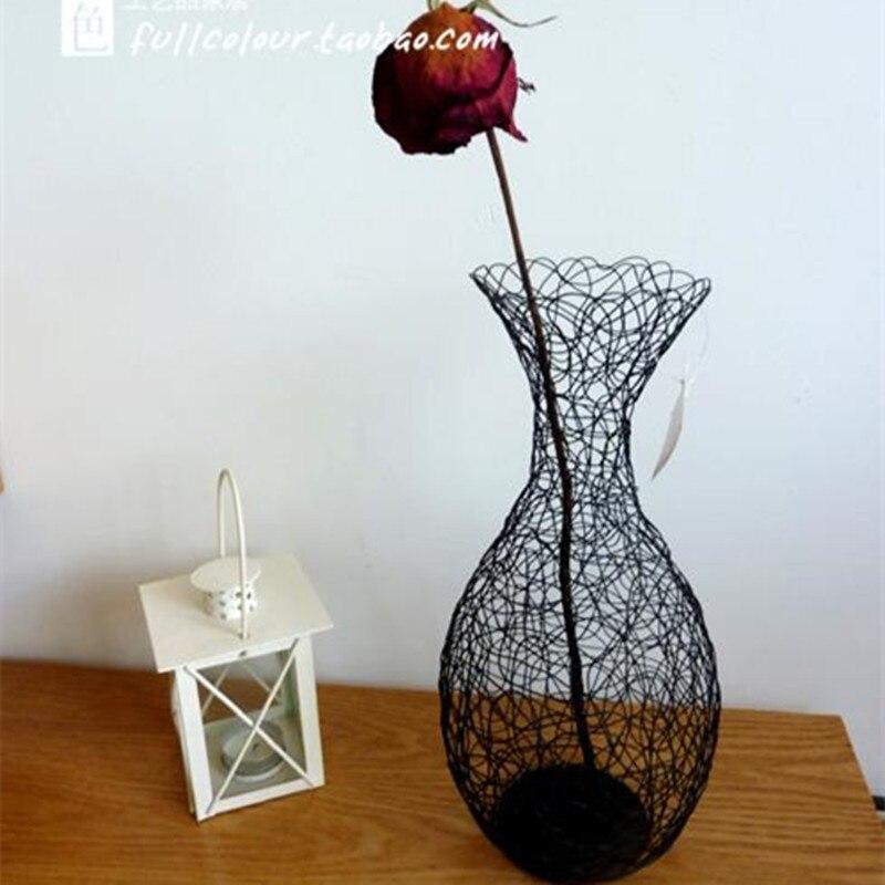 Online get cheap black flower arrangement for Vase de decoration interieur