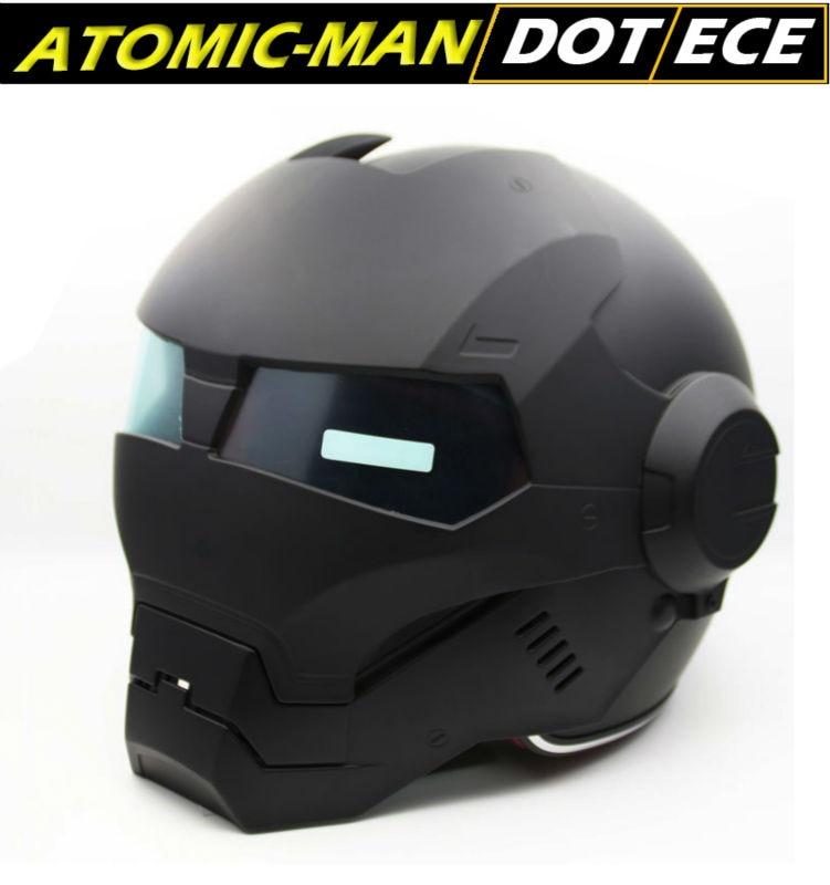 Black Iron Man Atomic-Man Helmet 610 Masei Zaku Stormtroop Helmets 3/4 Open Face DOT Ironman new coming 2016