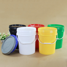 20L CLEAR พลาสติกที่มีมือจับและฝาปิด 4 แกลลอนที่ว่างเปล่าบรรจุภัณฑ์สำหรับอาหารสีกาว 3 ชิ้น/ล็อต