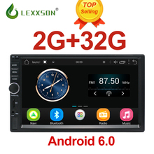 hot deal buy 2 din car multimedia player 2g+32g gps music audio video android car stereo mp3 mp4 wi-fi bluetooth 7 inch touch screen sd usb