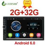 2 Din Car Multimedia Player 2G+32G GPS Music Audio Video Android Car Stereo MP3 MP4 Wi Fi Bluetooth 7 inch Touch Screen SD USB