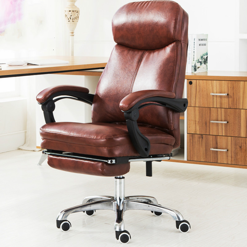Luxury Modern Leisure Lying Boss Chair Home Lifting Rotary Computer Chair Office Staff Meeting Ergonomic Chair With Footrest super soft modern household office chair leisure lying lifting boss chair ergonomic swivel computer boss chair