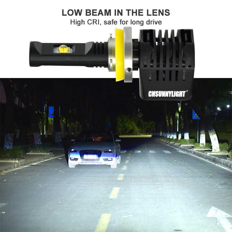 CNSUNNY светильник Canbus светодиодный головной светильник автомобильных ламп H7 H11 9006 9005 H4 D1 w/LUMI светодиодный S MX70 чипы 14000Lm 5700K без ошибок при парковке светильник