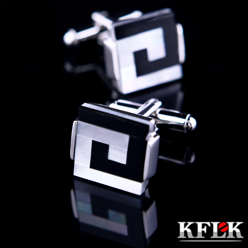 KFLK Jewelry Shirt Cufflink For Mens Brand Shell Cuff Link Wholesale Button Male High Quality Luxury Wedding Groom Free Shipping