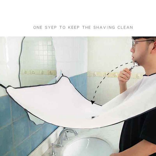 Pongee Male Beard Care Shave Apron Bib Trimmer Facial Hair Cape Sink Shaving Waterproof Aprons 1
