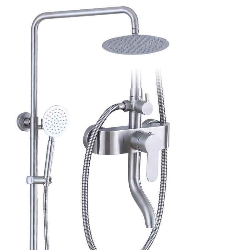 Stainless Steel Solar Water Heater Shower System Hangs From A Wall SUS304 8-Inch Nozzles In The Head Bathroom Shower Set