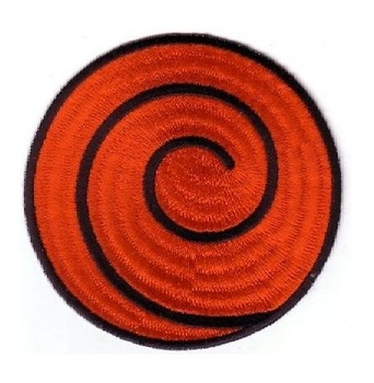 NARUTO RED SPIRAL PATCH anime Uniform Patch TV Series punk rockabilly applique sew on iron on patch Wholesale Free Shipping