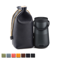 New Top Grain Leather Carry Protective Storage Box Pouch Cover Bag Case for Bose SoundLink Revolve+ Wireless Bluetooth Speaker