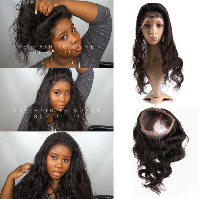 Ivy Dear Recommend Pre Plucked 360 Lace Frontal Peruvian Body Wave Natural  Hairline Hot Beauty Hair f264da84405c