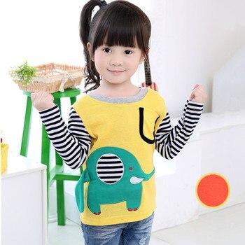2020 verano niñas niños camisetas dibujos animados elefante niños bebé blusa niños bobo ropa Tee marca de diseñador