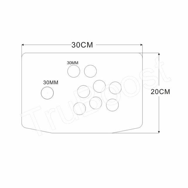 DIY Arcade Joystick Kits 5Pin Joystick Acrylic Artwork Panel Case Buttons Encoder 6 Colors Free Assembly
