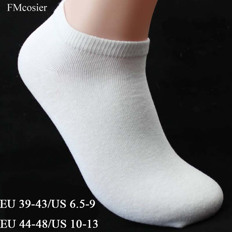 10 Pairs Spring Summer Cotton Big Low Cut men Large size   Socks   White Ankle Weed Sokken calcetines hombre divertidos 46 45 44