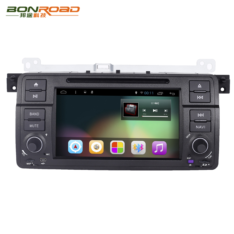 Bonroad Android 4.4 7 Inch Car DVD Player Multimedia For BMW/E46/M3/MG/ZT/3 Series  Canbus Wifi GPS Navigation FM Radio Map