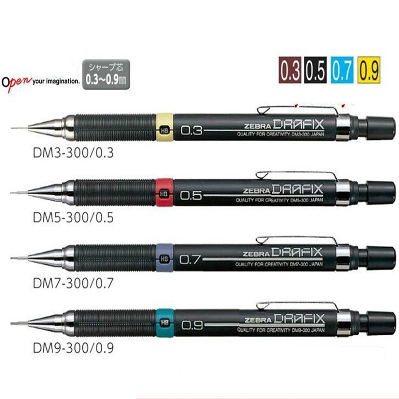 0.3/0.5/0.7/0.9mm Graphite Drafting Drawing Automatic Mechanical Pencil For Sketch School Supplies Stationery
