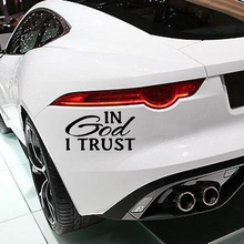 In God I Trust Car Sticker  Motorcycle SUVs Bumper Window Laptop Styling Vinyl Decal