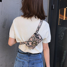 Fashion Waist Bags Simple Snake Print Belt Bag Women Punk Female Fanny Pack New Serpentine Leather Mini PU