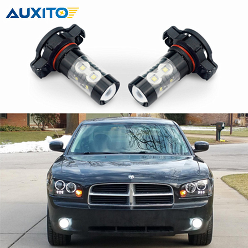 2pcs PSX24W LED H16 H11 H8 H10 Bulb 50W DRL Projector Fog Light For VW Passat B6 Golfe Jetta MK4 MK5 Routan Ram Dakota CC