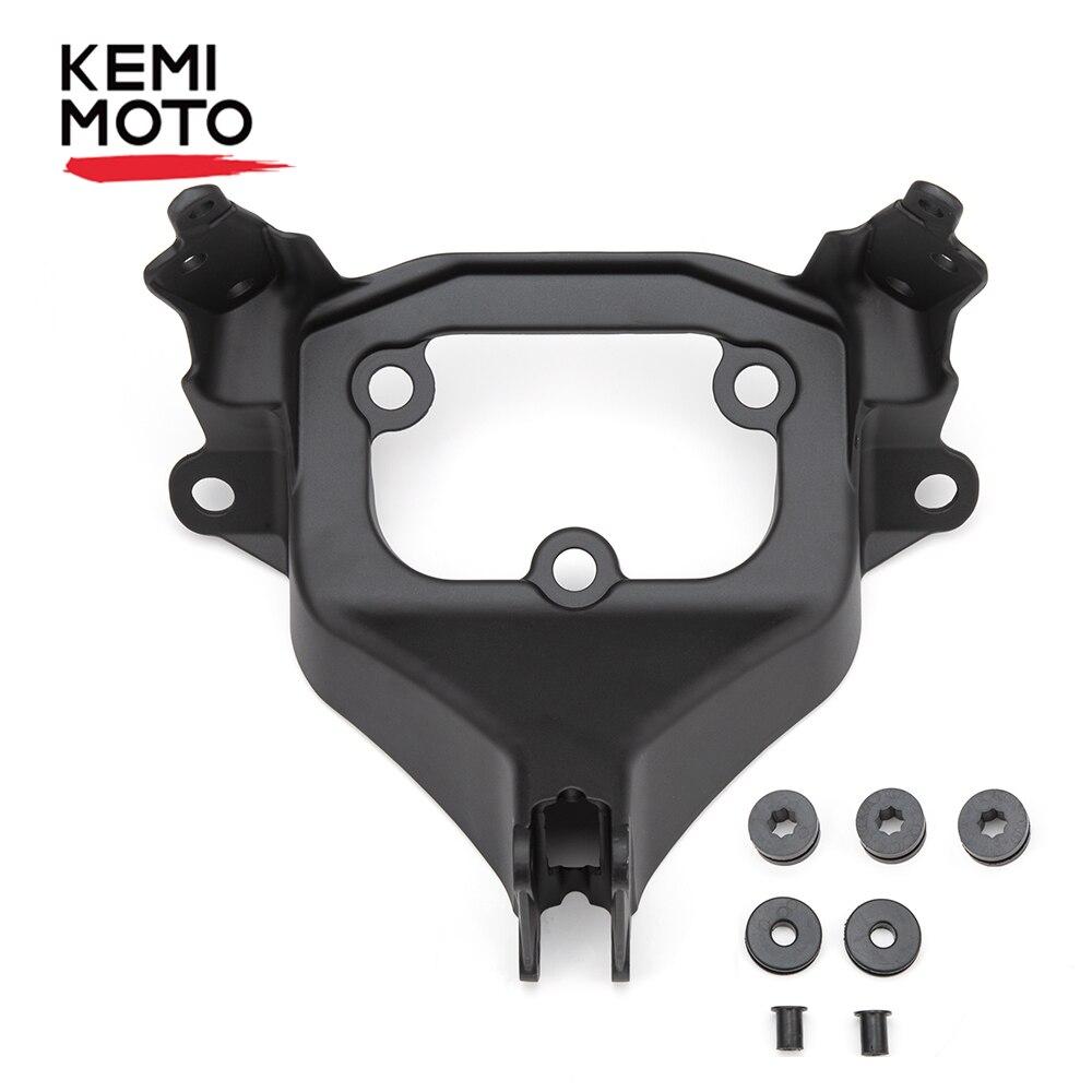 KEMiMOTO Motorcycle Black Upper Front Fairing Stay Bracket For Suzuki GSXR 1000 2017 2018 2019 Aluminum New GSXR1000