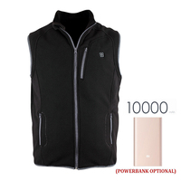 Electric Heating Vest 5V USB Heated Sleeveless Jacket Womens Heat Massage Winter Thermal Polar Fleece Varme Veste Mens Warm Coat
