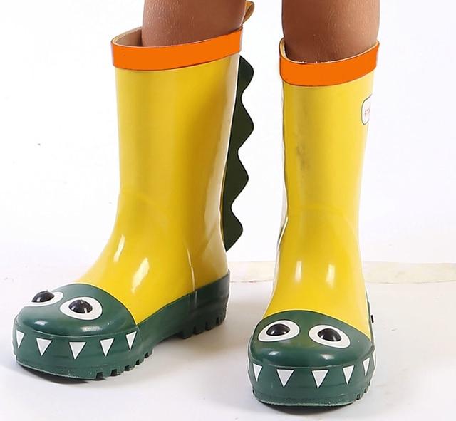 0be0dbe175b8 MAGGIE S WALKER Kids Rain Boots Waterproof Rubber Boots Boys Girls Dinosaur  Antiskid Cute Rain Shoes for Boys and Girls