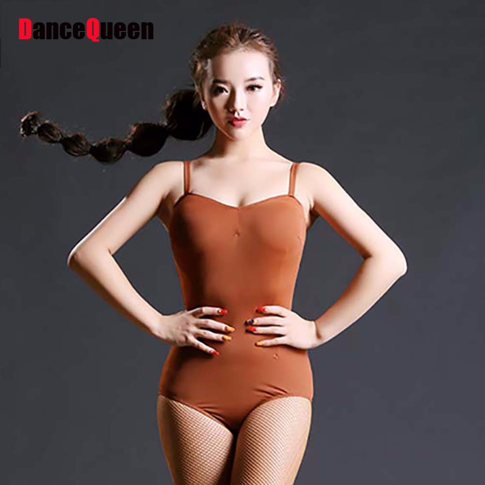 High Quality Latin Dance Jumpsuit For Ladies 3 Color Ice Silk Braces Leotard Clothing Beauty Women Ballroom Square Fashions 3249