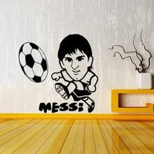Free Shipping Football superstar Messi vinyl wall art decal home decor diy wallpaper removable wall stickers home decor mural стоимость